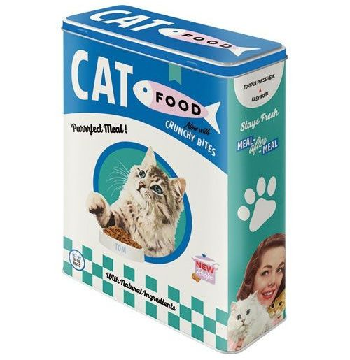CAT FOOD TIN BLUE PURRFECT MEAL