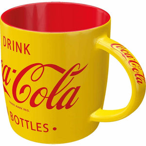 MUG NOSTALGIC ART COCA COLA YELLOW