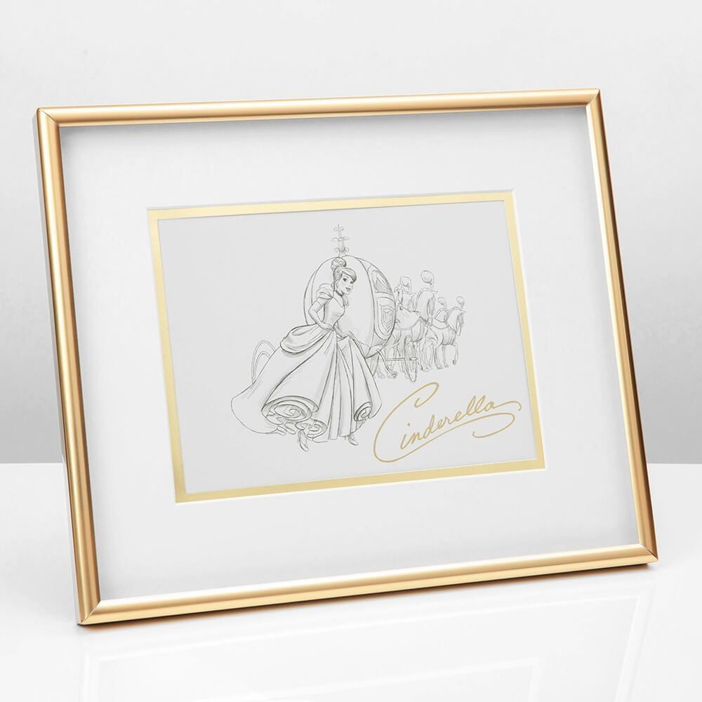 DISNEY PRINCESS COLLECTABLE FRAMED PRINT CINDERELLA