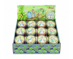 PETER RABBIT OVAL TIN ASSORTED