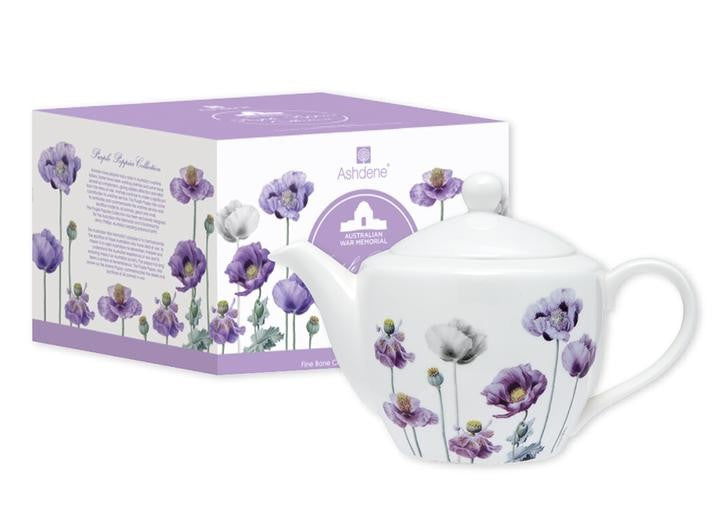 TEAPOT PURPLE POPPIES COLLECTION 600ML