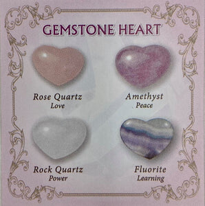 CRYSTAL LOVE HEART ASSORTED