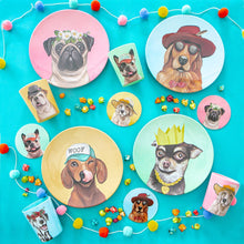 Load image into Gallery viewer, LA LA LAND MELAMINE PLATES CANINE CUTIES