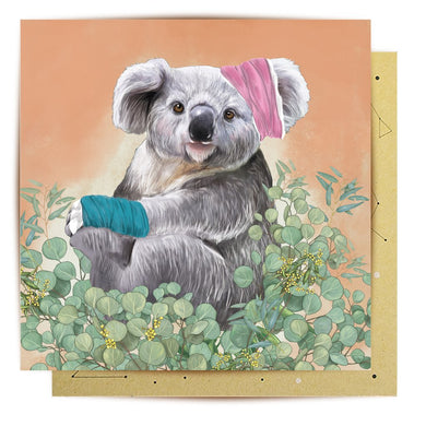 GREETING CARD BANDAGE KOALA