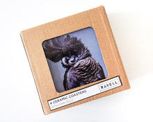 Load image into Gallery viewer, CERAMIC COASTER BLACK COCKATOO