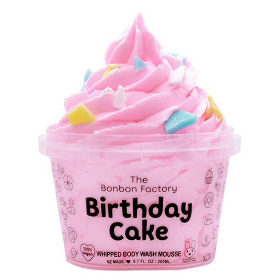 THE BON BON FACTORY BIRTHDAY CAKE WHIPPED BODY WASH MOUSSE