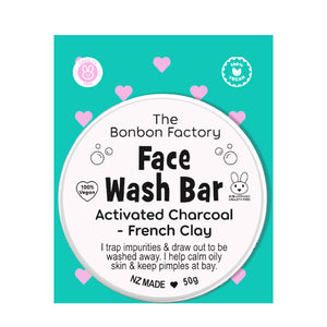 THE BON BON FACTORY CHARCOAL FACE WASH BAR