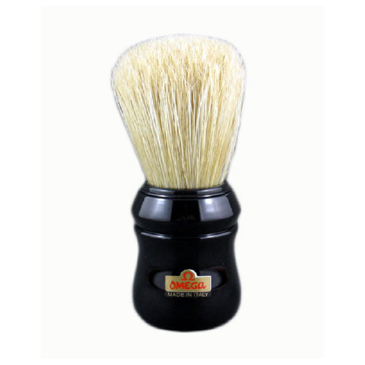 Omega 10049 Black Handle Boar Shaving Brush