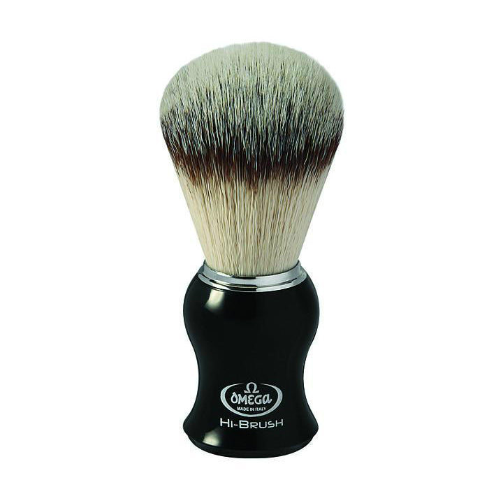 Omega 146206 Black  Handle Synthetic Hi-Performance Shaving Brush