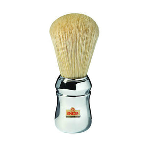 Omega 10048 Professional Chrome Handle Boar Shaving Brush