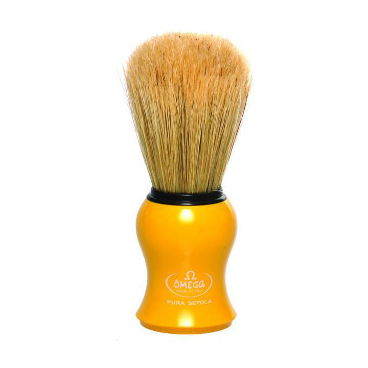 Omega 10065 Yellow Handle Boar Shaving Brush