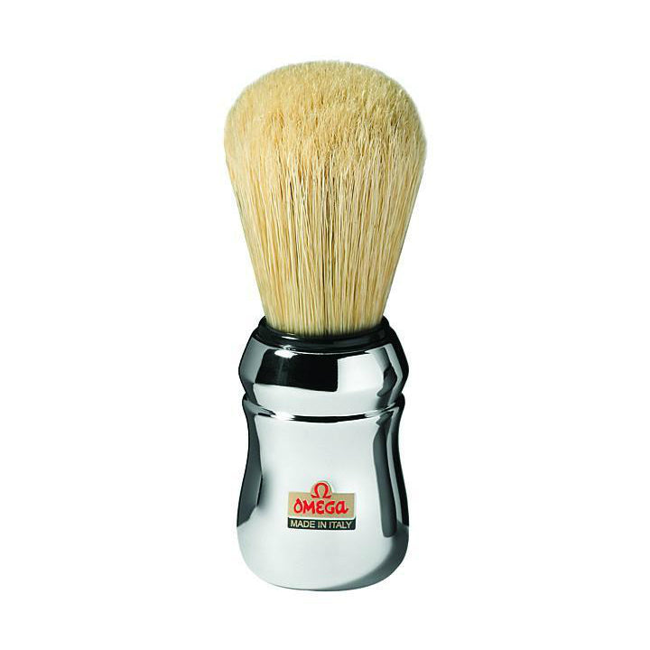 Omega 10083 Professional Chrome Handle Boar Shaving Brush