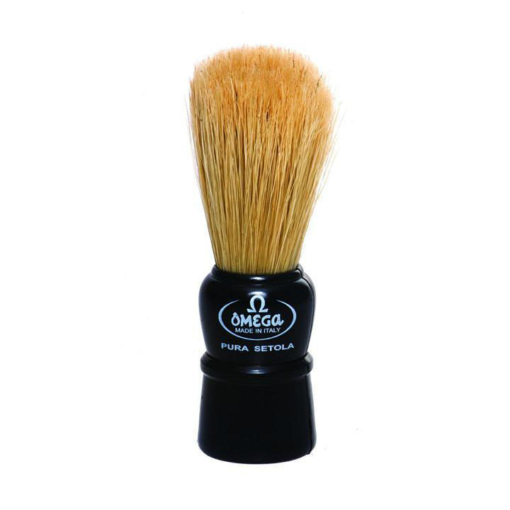 Omega 10086 Black Handle Boar Shaving Brush