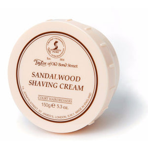 Taylor of Old Bond Street Sandalwood Shaving Cream, 150g
