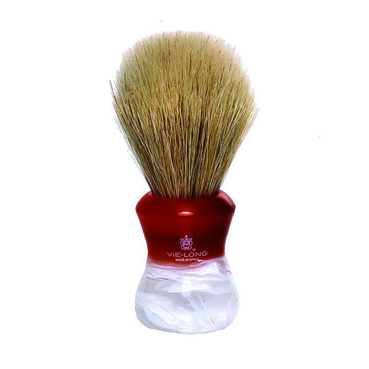 Vie Long 14080 Red & White Horse Hair Shaving Brush