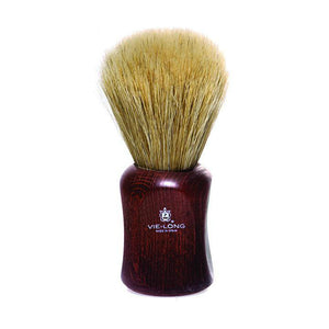 Vie Long 15830 Dark Red Wood Handle Horse Hair Shaving Brush