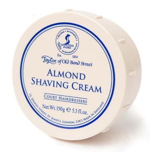 Taylor of Old Bond Street Almond Shaving Cream, 150g