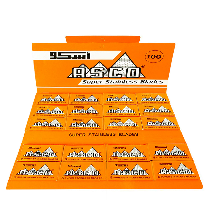 100 Asco Super Stainless Double Edge Razor Blades