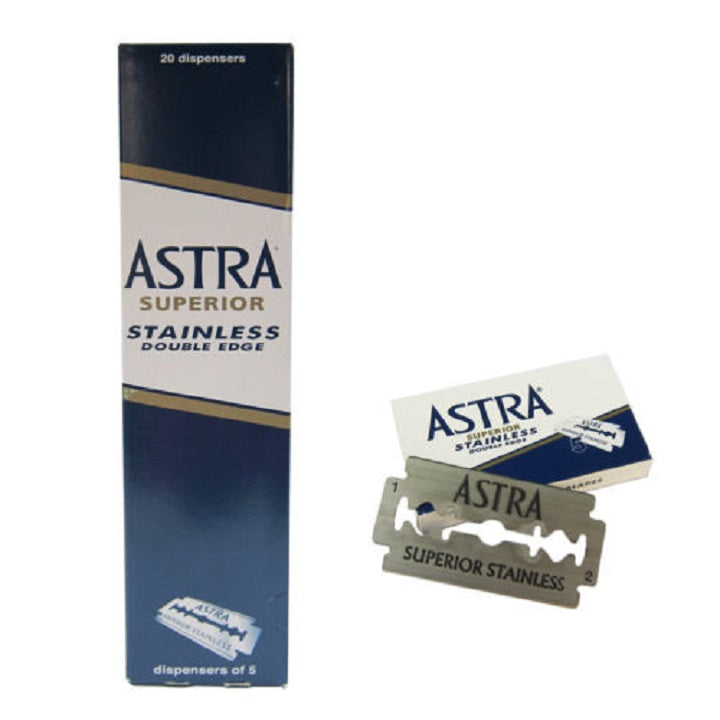100 Astra Superior Stainless Double Edge Razor Blades