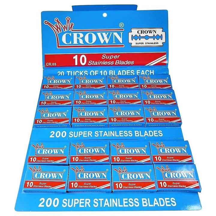 100 Crown Stainless Double Edge Razor Blades