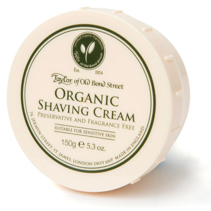 Taylor of Old Bond Street Organic Shaving Cream, 150g