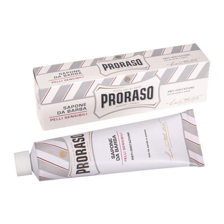 Proraso Green Tea and Oat Sensitive Skin Shaving Cream, 150ml Tube