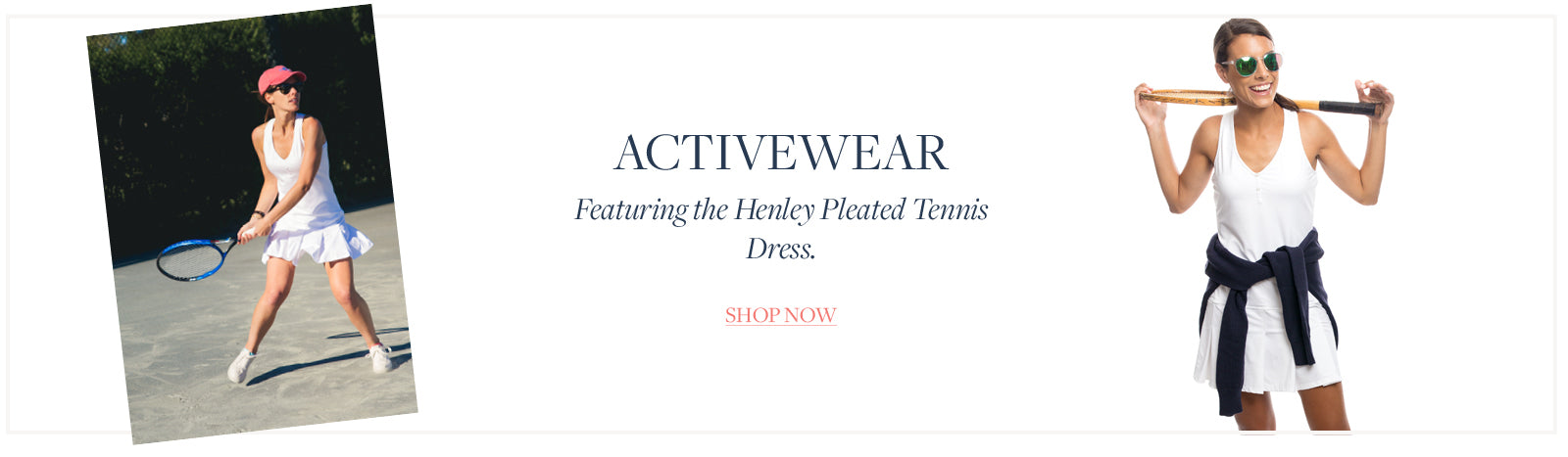 Featuring the Henley Pleated Tennis Dress.