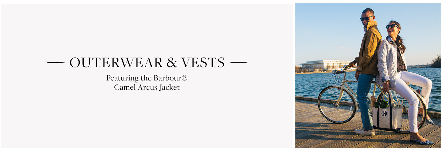 Featuring the Barbour® Camel Arcus Jacket