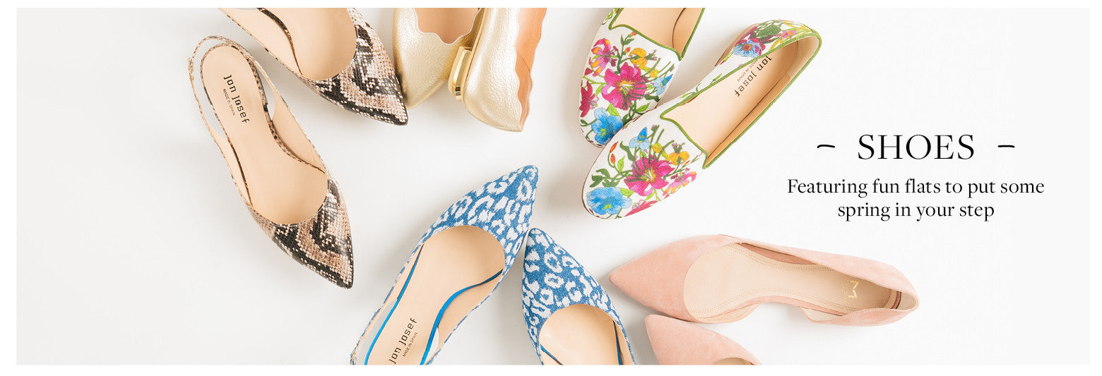 Featuring fun flats to put some spring in your step