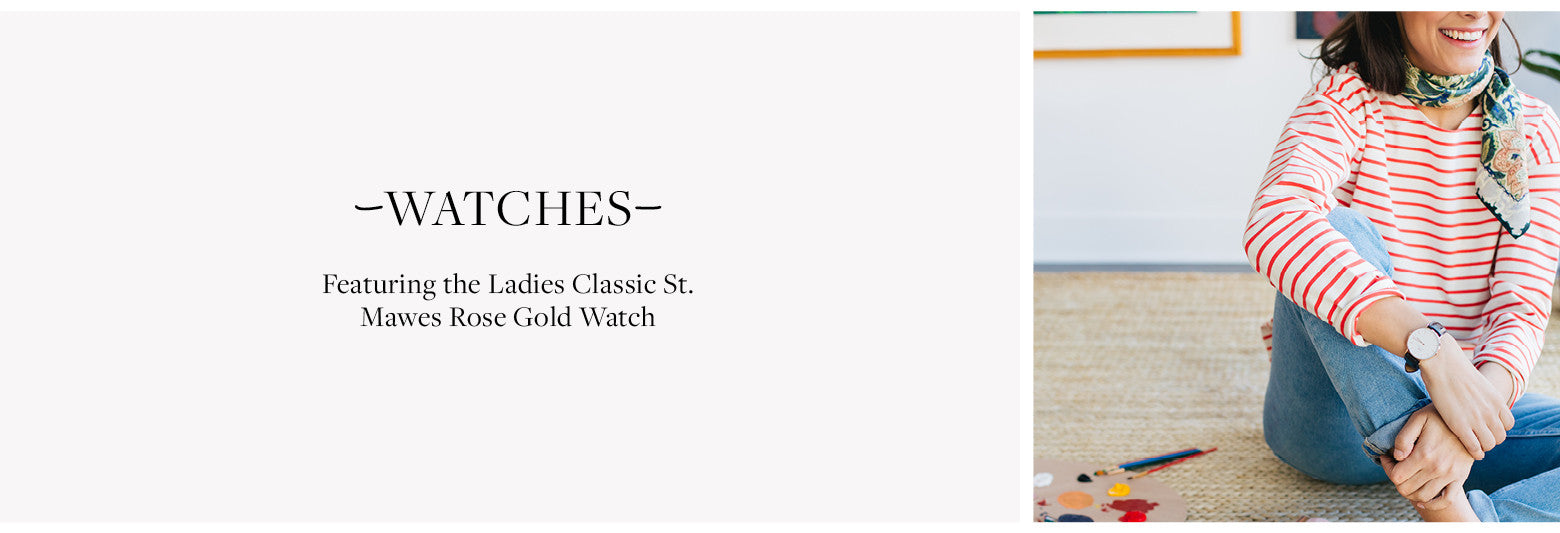 Featuring the Ladies Classic St. Mawes Rose Gold Watch