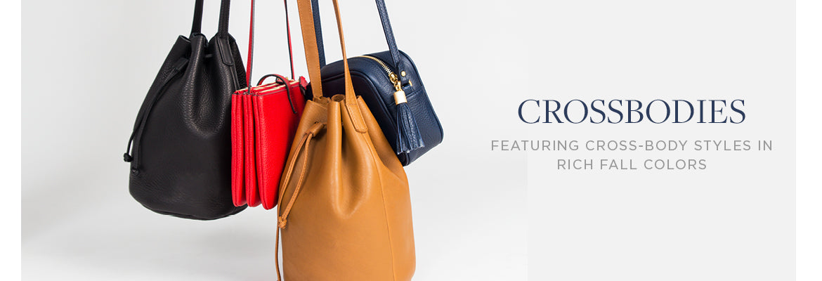 featuring cross-body styles in rich fall colors