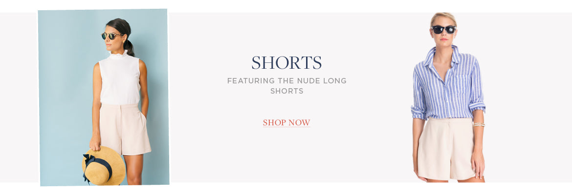 shorts featuring the NUDE LONG SHORTS