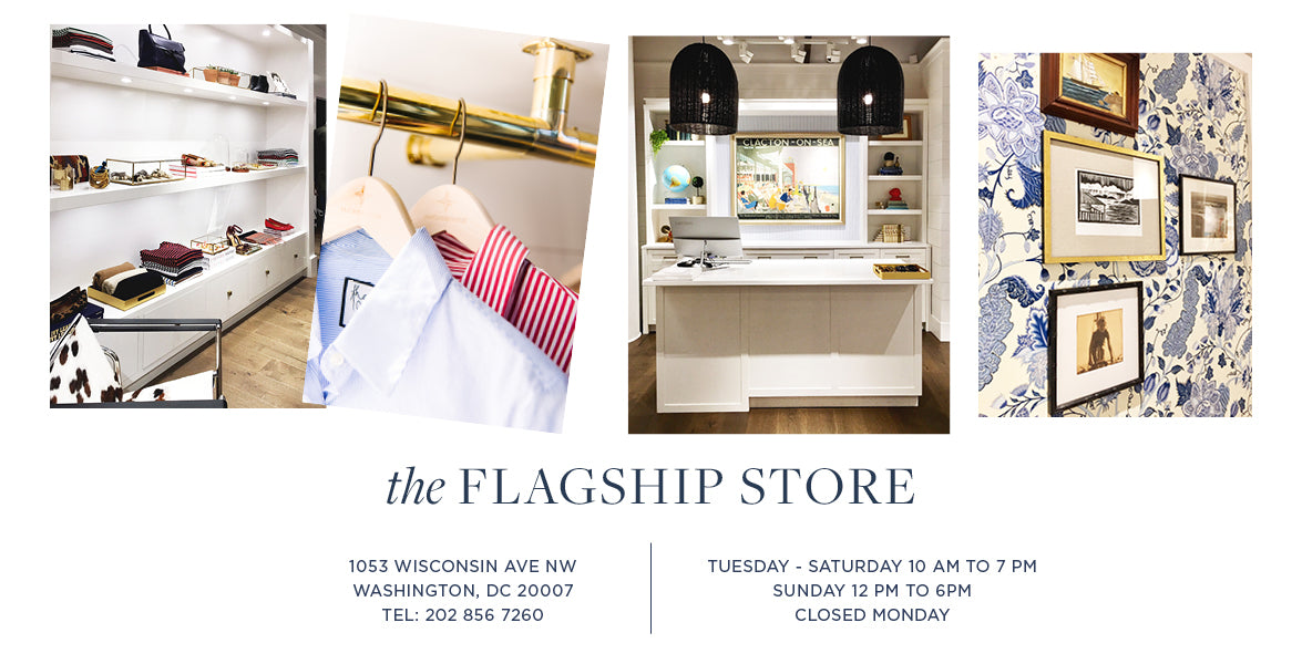 The flagship store. 1053 wisconsin ave nw washington, dc 20007 tel: 202 856 7260  Tuesday - Saturday 10 am to 7 pm Sunday 12 pm to 6pm closed monday