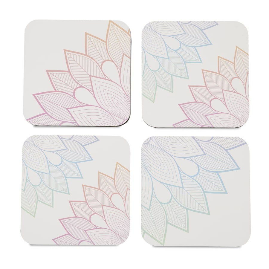 "Boho Corner 4 piece Coaster Set 3.75"" x 3.75"""