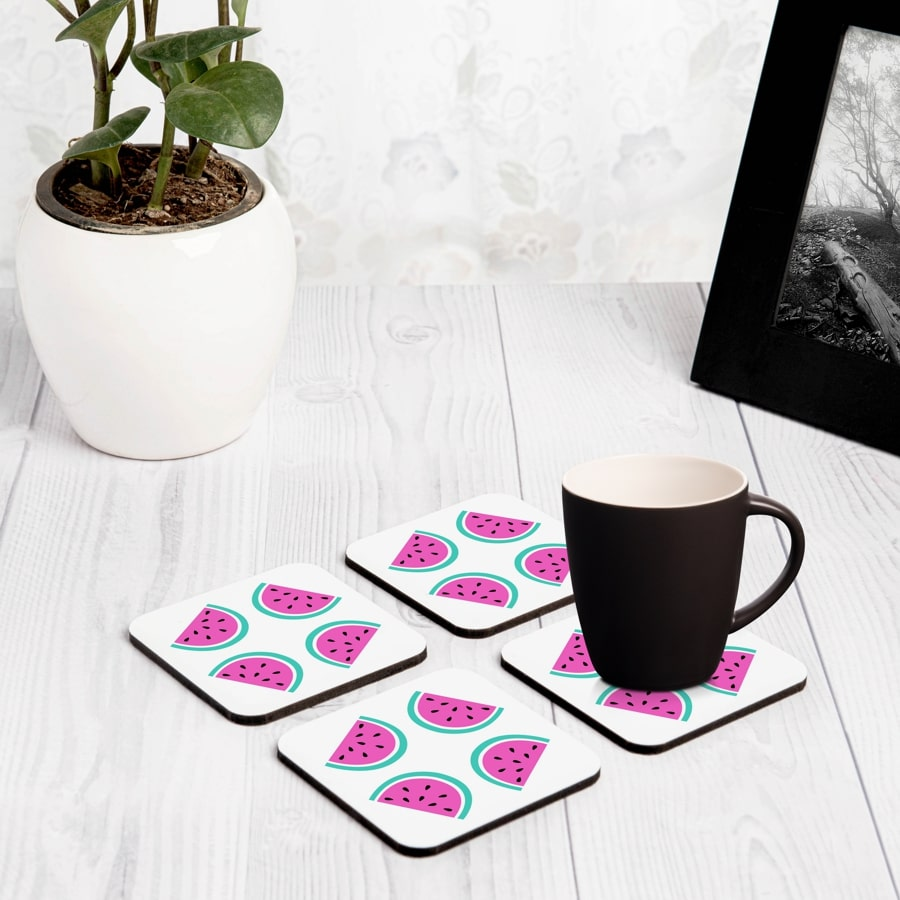 "Watermelon 4 piece Coaster Set 3.75"" x 3.75"""