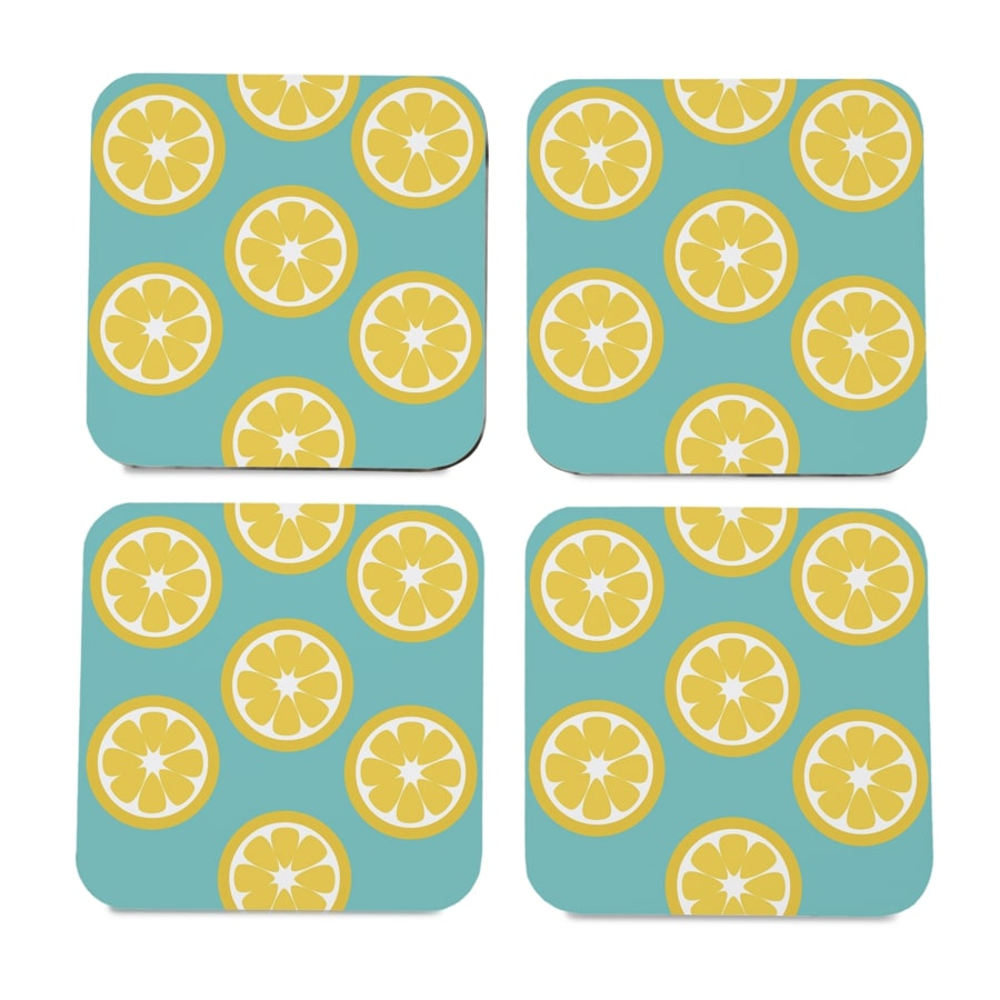"Lime 4 piece Coaster Set 3.75"" x 3.75"""