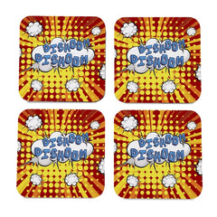 "Bollywood Dishoom 4 piece Coaster Set 3.75"" x 3.75"""