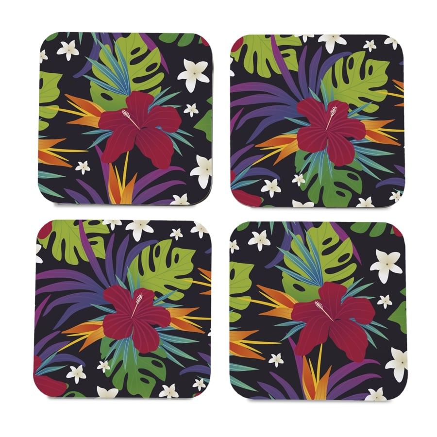 "Hawaii 4 piece Coaster Set 3.75"" x 3.75"""