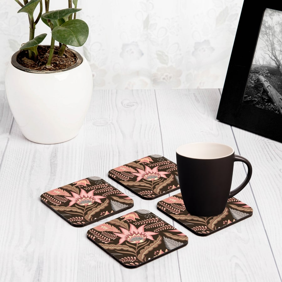 "Sheila 4 piece Coaster Set 3.75"" x 3.75"""