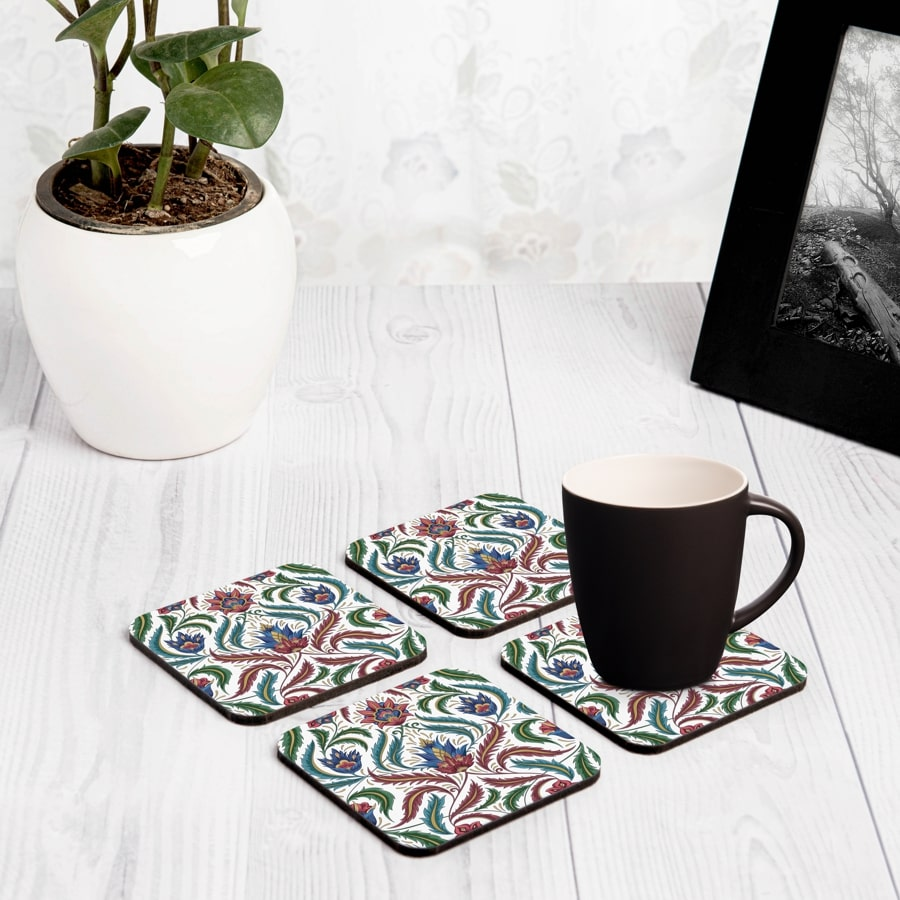 "Liena Multi 4 piece Coaster Set 3.75"" x 3.75"""