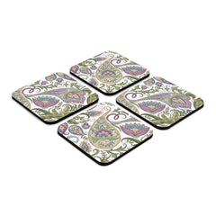 "Sameera White 4 piece Coaster Set 3.75"" x 3.75"""