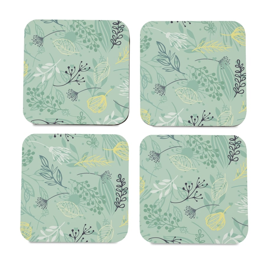 "Herbs 4 piece Coaster Set 3.75"" x 3.75"""