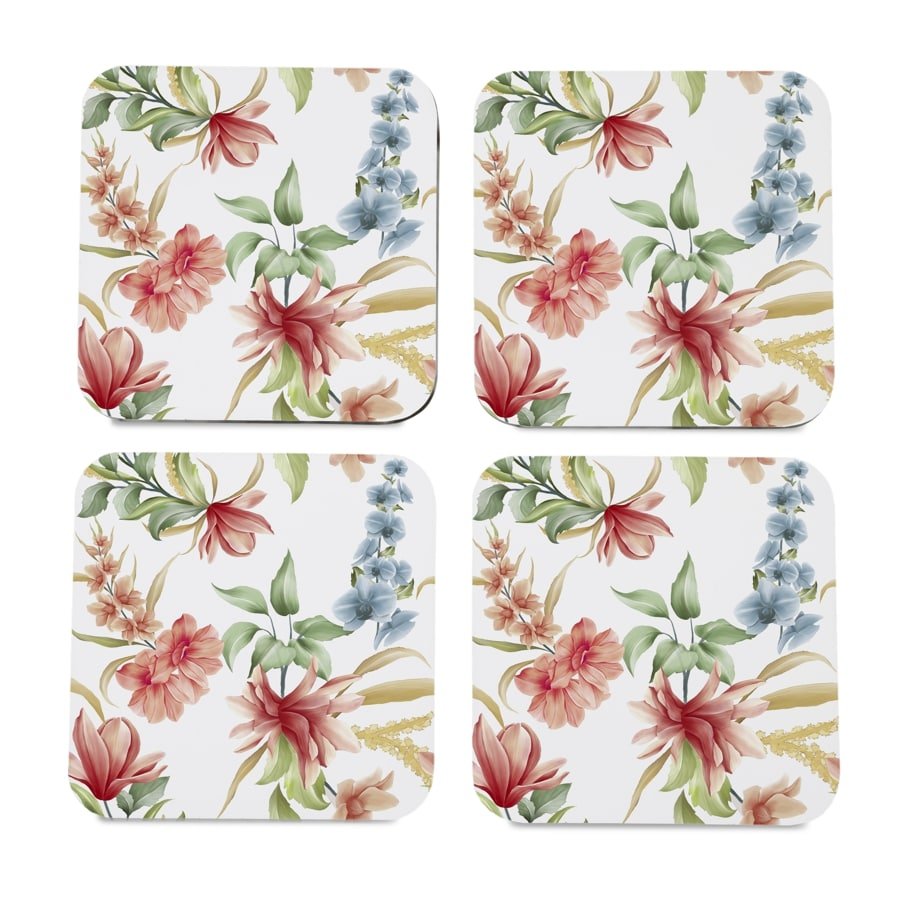 "Magnolia 4 piece Coaster Set 3.75"" x 3.75"""