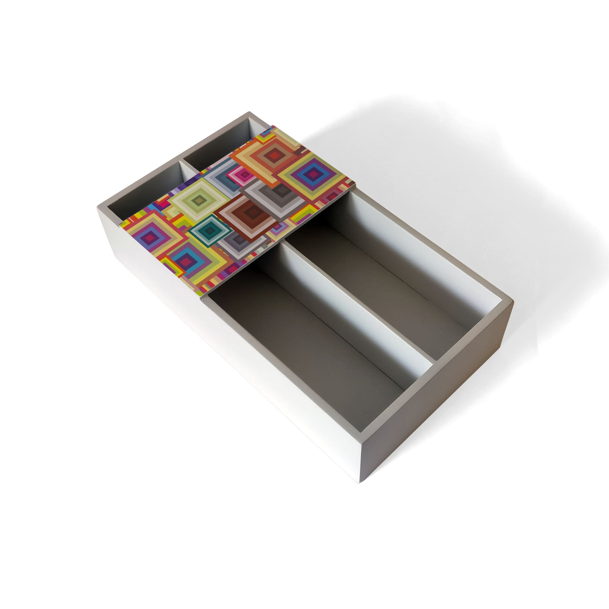 Colourful Squares Cutlery Tray