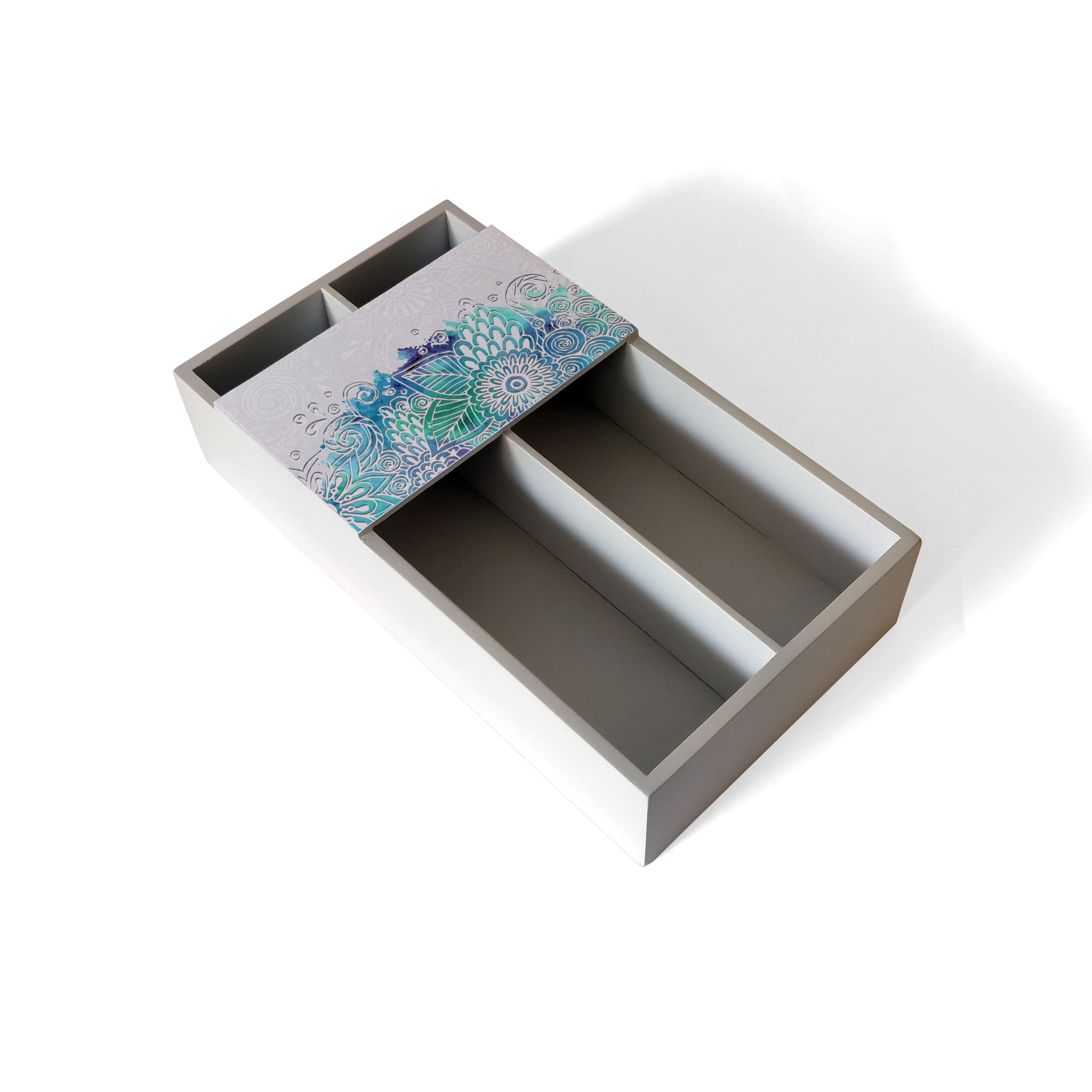 Abstract Flowers Cutlery Tray