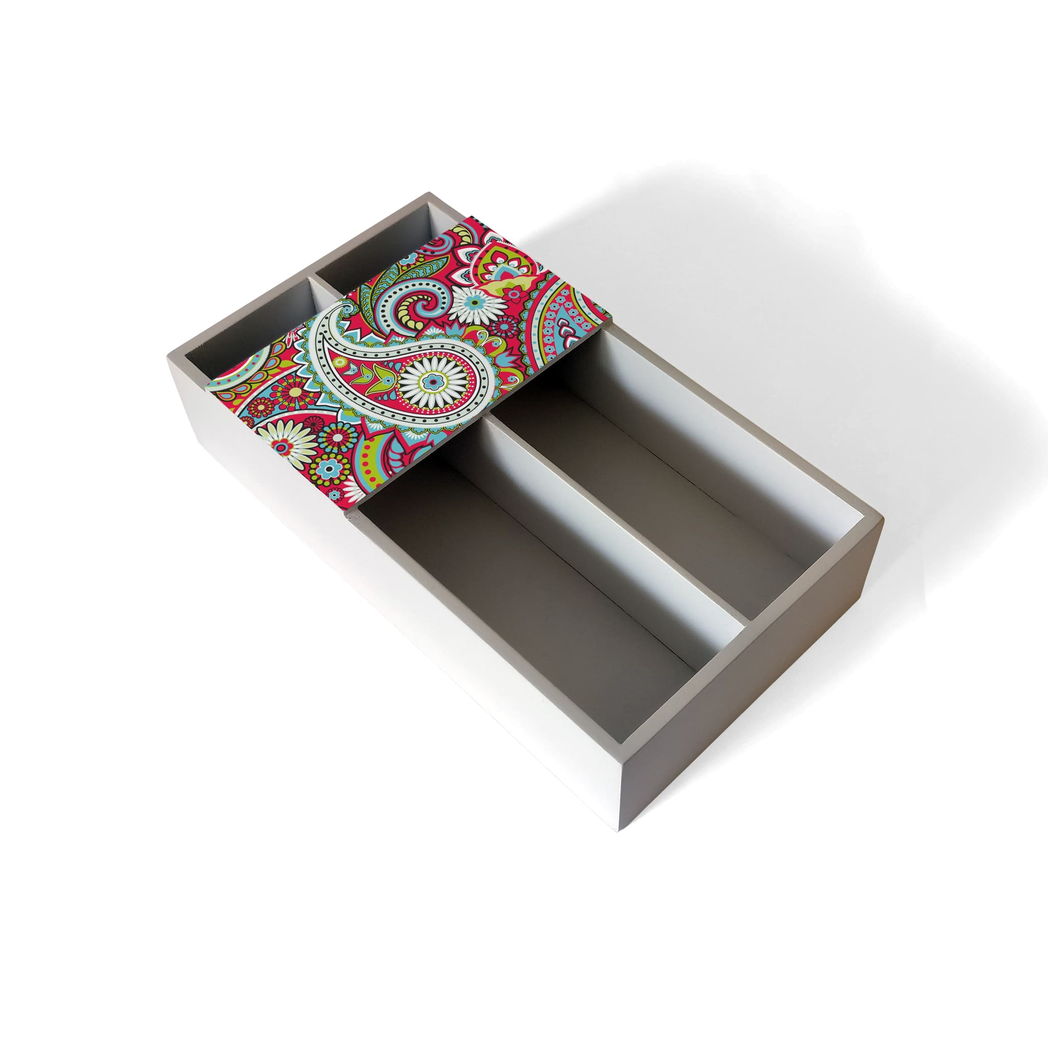 Pink Paisley Cutlery Tray