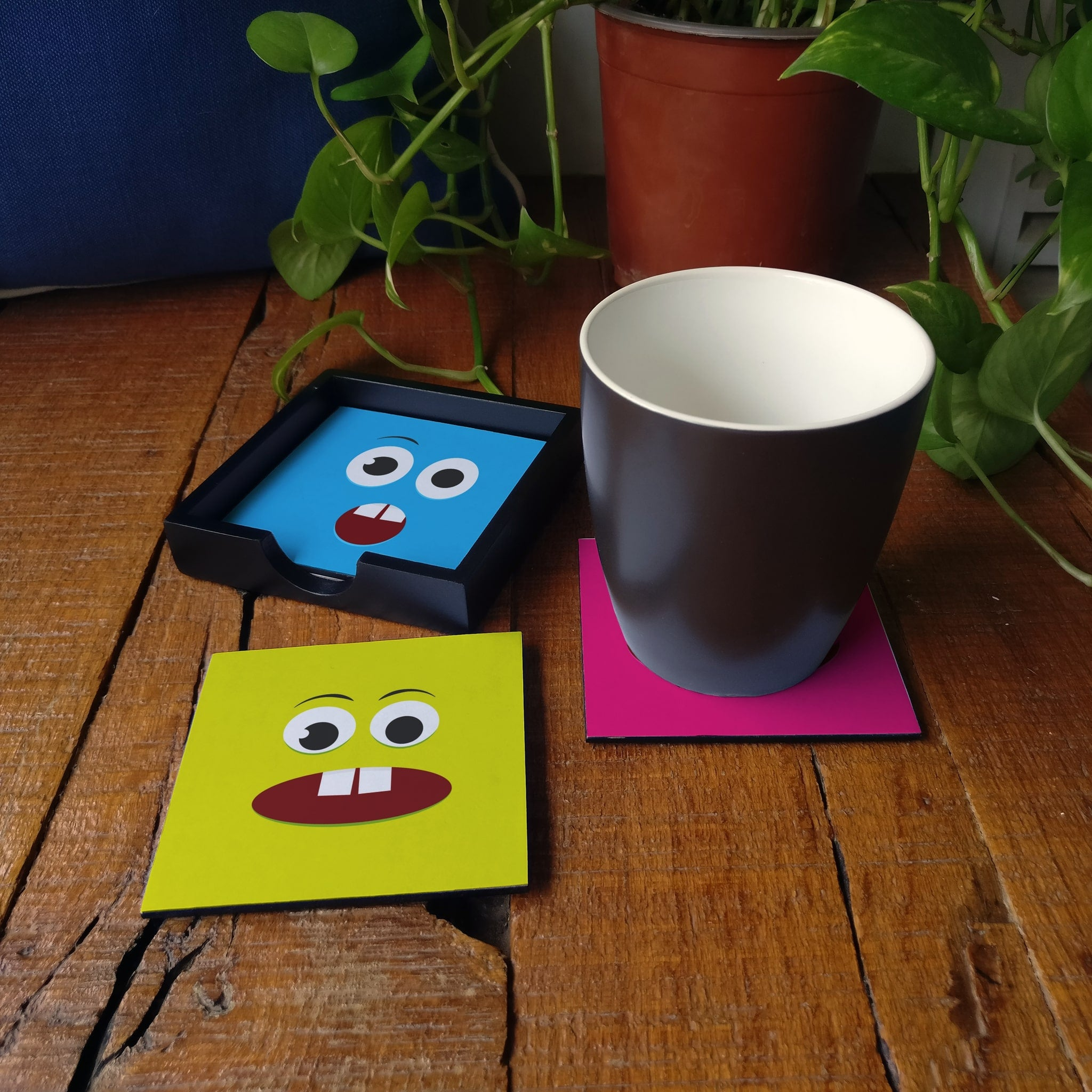 Emoji Coaster Set with Box