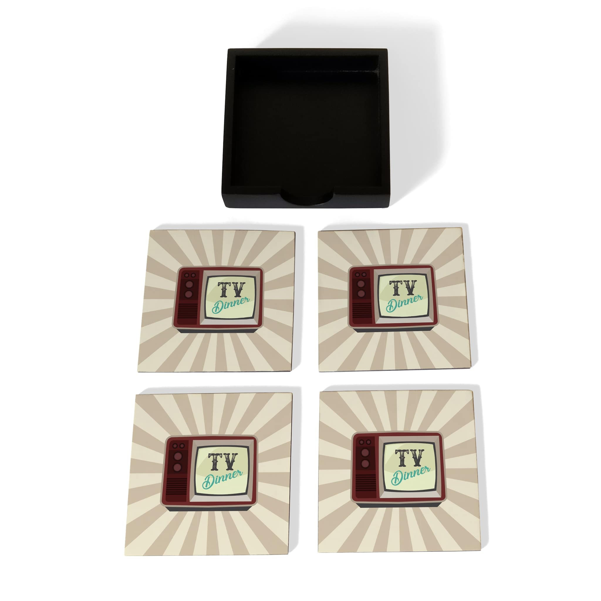 TV Dinner Coaster Set with Box