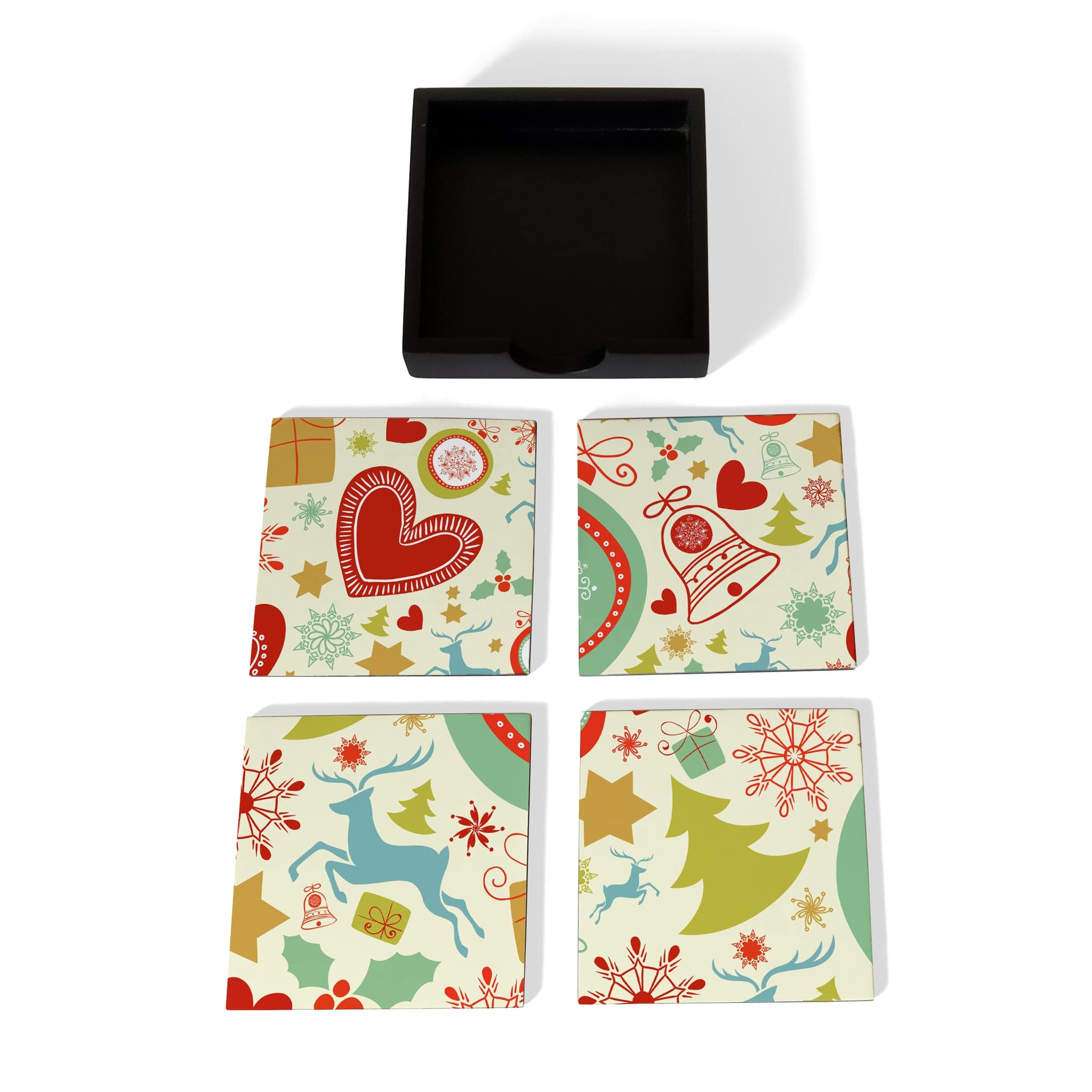 Xmas Allover3 Coaster Set with Box