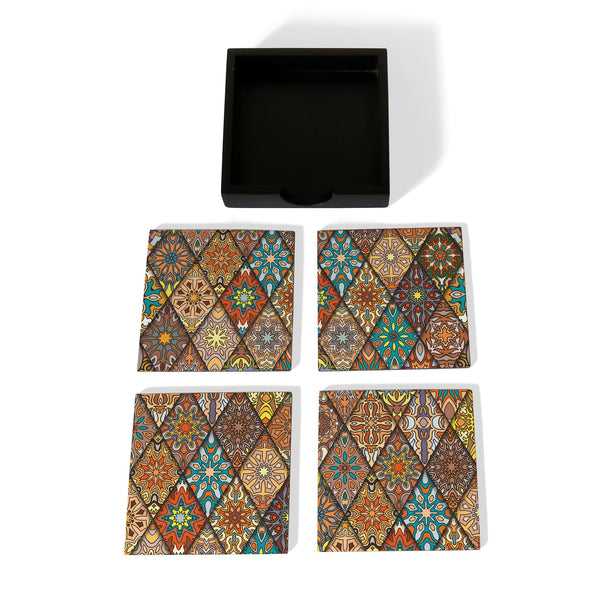 Diamond Coaster Set with Box